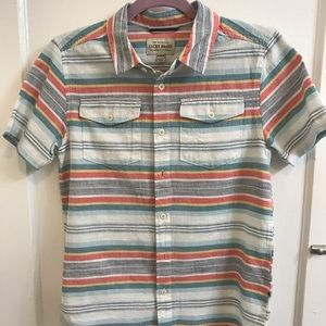 Lucky Brand Boy's Short Sleeve Button Down Shirt